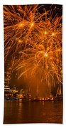 Fireworks London Beach Towel