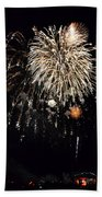 Fireworks Beach Towel by Michelle Calkins