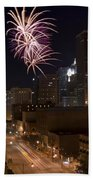 Fireworks Over The City Beach Towel