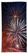Fireworks Rectangle Beach Towel