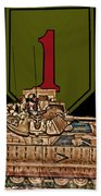 First Infantry Division Bradley Fighting Vehicle Beach Towel