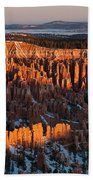 First Light At Bryce Canyon Beach Towel