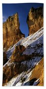 First Snow At Bryce Canyon Beach Towel