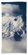 First Snow At Mt St Helens Beach Towel