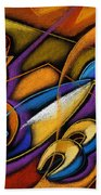 Fish Beach Towel by Leon Zernitsky