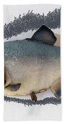 Fish Mount Set 04 C Beach Towel
