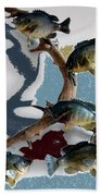 Fish Mount Set 05 B Beach Towel