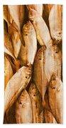 Fish Pattern On Wood Beach Towel