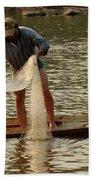 Fisherman Mekong 2 Beach Towel