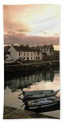 Fishing Village In Ireland Beach Towel