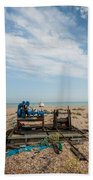 Fishing Winches Beach Towel