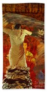 Flamenco Series No 2 Beach Towel