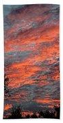 Flaming Sky Beach Towel