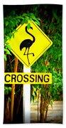 Flamingo Crossing Beach Towel
