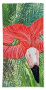 Flamingo Mask 2 Beach Towel
