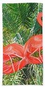 Flamingo Mask 4 Beach Towel