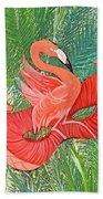 Flamingo Mask 8 Beach Towel