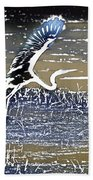 Flight Of The Egret V5 Beach Towel