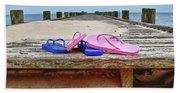 Flip Flops On The Dock Beach Towel