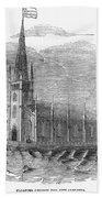 Floating Church, 1849 Beach Towel