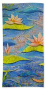 Floating Lilies Beach Towel