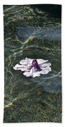 Floating On Reflections Beach Towel
