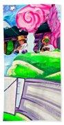 Floating Thru Mardi Gras 4 Beach Towel