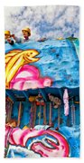 Floating Thru Mardi Gras Beach Towel by Steve Harrington