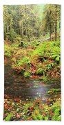 Flood In The Forest Beach Towel