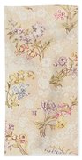 Floral Design With Peonies Lilies And Roses Beach Towel by Anna Maria Garthwaite