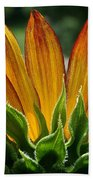 Floral Flaming Fingers Beach Towel