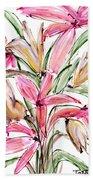 Floral Fourteen Beach Towel