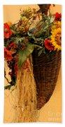 Floral Horn Of Plenty Beach Towel