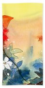 Floral Neklace Beach Towel by Anil Nene