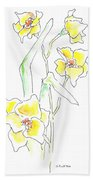 Floral Paintings 2 Beach Towel