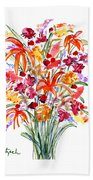 Floral Six Beach Towel