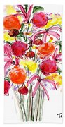 Floral Thirteen Beach Towel