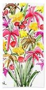 Floral Twelve Beach Towel
