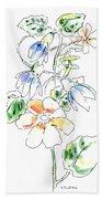 Floral Watercolor Paintings 4 Beach Towel