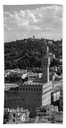 Florence - Black And White Beach Towel