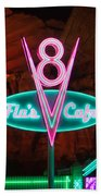 Flo's V8 Cafe - Cars Land - Disneyland Beach Towel by Heidi Smith
