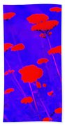 Flourescent Florals Beach Towel