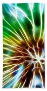 Flower - Dandelion Tears - Abstract Beach Towel