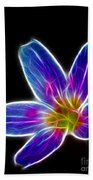 Flower - Electric Blue - Abstract Beach Towel