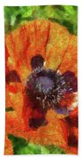 Flower - Poppy - Orange Poppies  Beach Towel