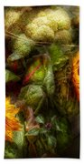Flower - Sunflower - Gardeners Toolbox  Beach Towel