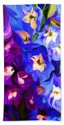 Flower Arrangement 012812 Beach Towel by David Lane
