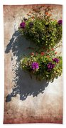 Flower Baskets Beach Towel
