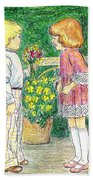 Flower Children Beach Towel