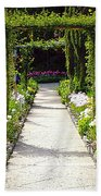 Flower Garden - Digital Painting Beach Towel